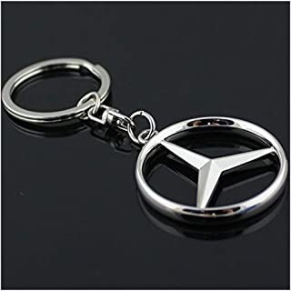 Funsport Car Key Chain Rings - 3D Premium Metal Alloy Key Holder (Fit Benz)