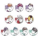 yanqiu Anime Haikyuu !! tobio tsukishima kei Cosplay Figur Bedge Cartoon Tasche Abzeichen Button Brosche Pin Anhänger Geschenk Heißes Geschenk für Fans für Frauen(10PCS-B)