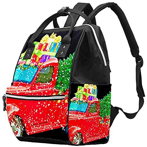 YUELAI Sac à langer Sac à dos Sac à dos pour ordinateur portable Sac à dos de voyage pour femme, camionnette de Noël