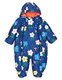 Daisy Blue Flower Print Snowsuit with Stormwear for Newborn Baby Toddlers Girls and Boys (3-6 Months)