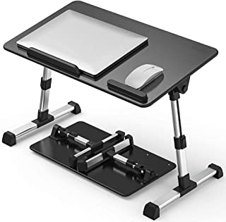Fiyobo Folding Laptop Bed Tray Table,Adjustable Standing Bed Desk,Foldable Sofa Breakfast Tray for, Writing, Drawing, Work...