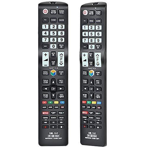 Alkia Universal Luminous Ersatzfernbedienung SM-1LC Für Samsung TV/Lernen / 3D / LCD/LED/HDTV, Funktioniert mit Allen Samsung Fernsehgeräten LED/LCD/Plasma (im Dunkeln leuchten)