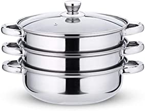 LJBH Stainless Steel Steamer Set, Suitable For Household Kitchen Food Steamer, Multi-layer Steamer, Suitable For Gas Stove...