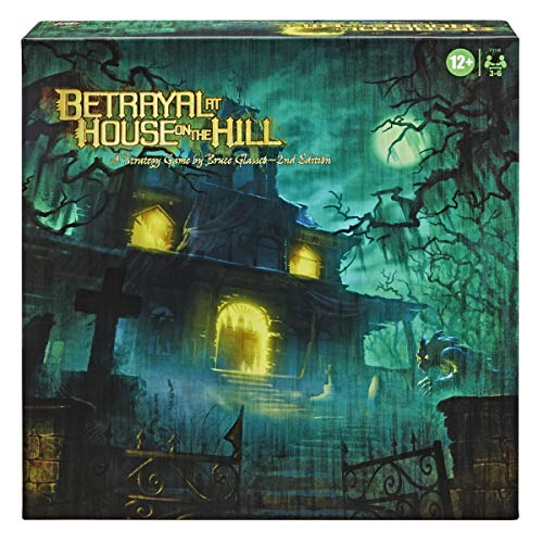 Hasbro Gaming Avalon Hill Betrayal at The House on The Hill Second Edition Cooperative Board Game, Ages 12 and Up, 3-6 Players, 50 Chilling Scenarios