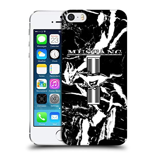 Head Case Designs Ufficiale Ford Motor Company Marmo Mustang Logos Cover Dura per Parte Posteriore Compatibile con Apple iPhone 5 / iPhone 5s / iPhone SE 2016