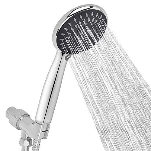 "Shower Head,Arespark Detachable Shower Head,High Pressure Handheld ShowerHead for Bathroom 5-Settings 4.1""Chrome Face, Premium Luxury Rainfall Spa,Bathroom Accessories for Ultimate Shower Experience"