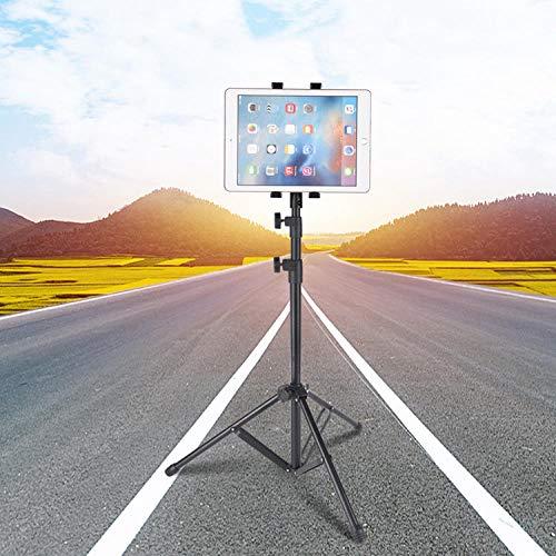 Negro Aleación De Aluminio Tripode Ipad Mini 4,Altura Regulable 66-165/26-65in Soporte Ipad Pro 2018 para Tabletas Y Teléfonos Inteligentes, Ideal para Pantallas De 4 A 12 Pulgadas, para Fotografías