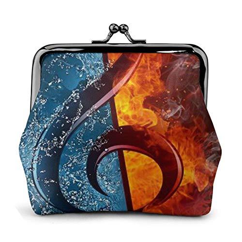 Ice and Fire Porte-monnaie en cuir avec boucle et clé musicale Cadeau pour femme