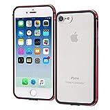 レイ・アウト iPhone SE(第2世代)/8/7 アルミバンパー+背面パネル(クリア)/レッド RT-P14AB/RM