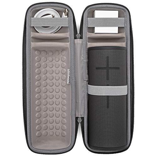 Ultimate Ears MEGABOOM 3 - Altavoz Bluetooth inalámbrico Impermeable (Color Negro, Incluye Cable y Enchufe de Pared, Incluye Funda Protectora Acolchada Knox Gear (2 Unidades)