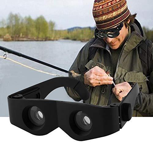 KONGZIR Telescopio Negro Estilo de Cristal Portable y de la Lupa for la Pesca Pesca Senderismo Prismáticos Accesorios envío de la Gota