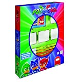 Multiprint Box 4 Sellos para Niños PJ Mask, 100% Made in Italy, Set Sellos Niños Persolanizados, en Madera y Caucho Natural, Tinta Lavable no Tóxica, Idea de Regalo,, Art.27954