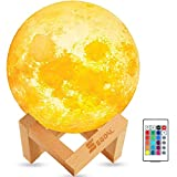 SEGOAL Moon Lamp Night Light, 16 Colors LED 5.9 Inch 3D Moon Light, Touch & Remote Control & USB Rechargeable Night Light for Kids, Baby, Girls, Boys Birthday Gift