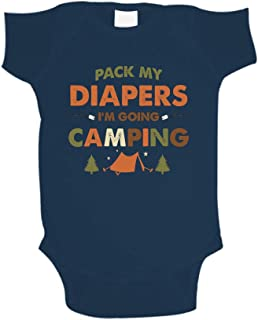 Pack My Diapers I'm Going Camping Baby Bodysuit One Piece or Toddler T-Shirt