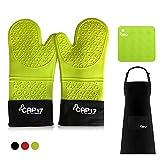 Guantes de Horno Silicona Resistentes al Calor, Oven Gloves Guantes...