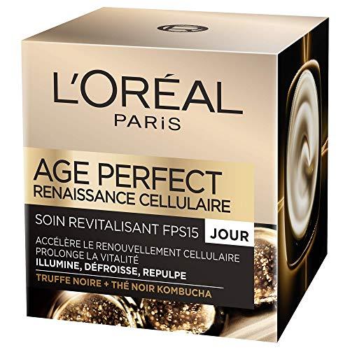 L'Oréal Paris - Age Perfect - Soin Revitalisant et Anti-Âge Jour - Pour Peaux Matures - Renaissance Cellulaire - 50 ml