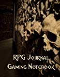 RPG Journal Gaming Notebook: The Essential Tool For DMs & Gamers, Large Ruled & Grid Paper for Campaigns, Mapping and World Building: Skull Hall Design