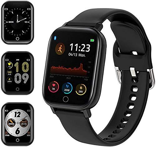 Smartwatch Orologio Uomo Donna digitale Fitness Tracker Contapassi Calorie Cardiofrequenzimetro da polso IP68 impermeabile con Cronometro Notifiche Messaggi con misura pressione