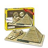 Rompecabezas 3D DIY modelo de construcción de papel de juguete ensamblar juego de trabajo manual esfinge pirámide Egipto Arquitectura regalo de cumpleaños 1 juego