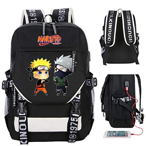 Twhoixi Anime Naruto Cosplay Rucksack Cartoon Student Schule Umhängetaschen Teenager Laptop Reisetasche