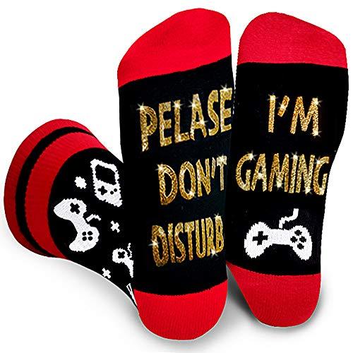 Don't Disturb Gaming, Football, Christmas Movie,Napping Novelty Socks Gift for Men Women Teen Boys Kids Sons Boyfriends