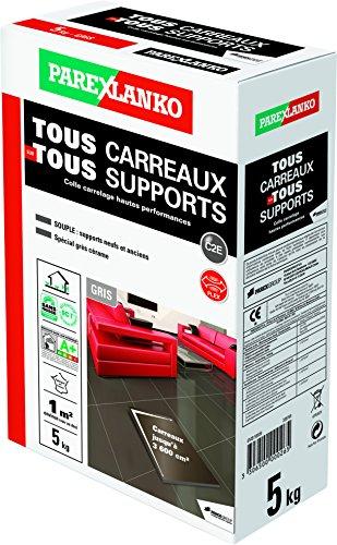 PAREXLANKO Colle carrelage Tous Carreaux sur Tous Supports Gris 5Kg.
