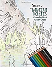 Scenes of The Canadian Rockies Colouring Book