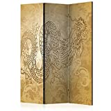murando Biombo con Tablero de Corcho Dragón&Japón 135x172 cm de Impresion Bilateral...