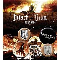ATTACK ON TITAN 進撃の巨人 - Characters 6個セット / バッジ 【公式/オフィシャル】