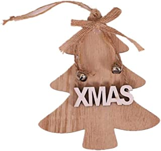 Kiar Tree Wooden DIY Christmas Xmas Gifts Sleigh Ornaments Pendants Hanging Tree Gift Tree Before Nightmare White who DVD for Doctor Stole Outfit Carol Vacation Bag Bad July