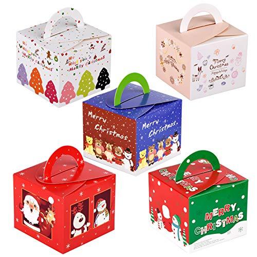 MELLIEX 15 pièces Boîtes de Cadeaux en Carton de Noël Boîte à Bonbons de Faveur de Traiter de Noël pour Kid Party présente Une décoration