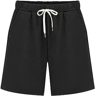 Women's Elastic Waist Soft Knit Jersey Bermuda Shorts with Drawstring