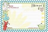 Brownlow Gifts 32317 - Cartoncini per ricette a righe, in carta, grembiuli retrò