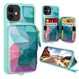 iPhone 11 Wallet Case,ZVE iPhone 11 Case with Credit Card Holder,Zipper Wallet...