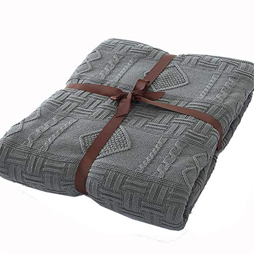 Why Should You Buy Oureong Sofa Blankets Luxury All Season Soft Cable Sweater Knitting Throw Blanket Quilt Throw with Lining Suitable for Bed Sofa Couch Throws for Couch Warm Comfy Reversible