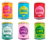 DISOK - Vela Frase Colores For Home - Velas, Velitas Originales Fragancias para Regalos, Detalles y Recuerdos para Bodas, Bautizos y Comuniones
