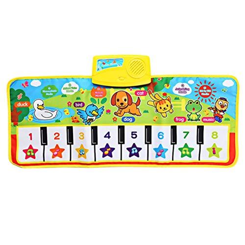 Fontsime 71X28cm子供英語音楽ピアノ音楽カーペット赤ちゃん子供プレイマット毛布教育用電子玩具ギフト