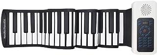 61鍵 ロールピアノ 電子ピアノ 電子キーボード 128種類音色 128種リズム 14曲模範曲 マイク内蔵 USB充電 イヤホン/スピーカー対応 初心者向 日本語説明書 子供プレゼント