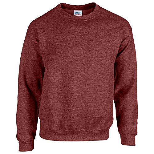 Gildan - Heavy Blend Crewneck Sweatshirt - 18000 - L - Heather Sport Dark Maroon