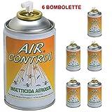 air control s BOMBOLETTE INSETTICIDA SPRY A Base di PIRETRO Naturale Contro Mosche ZANZARE E Insetti Volanti - 6 BOMBOLETTE