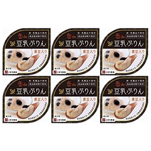 濃厚なめらか 豆乳ぷりん 缶詰タイプ〔90g×6〕