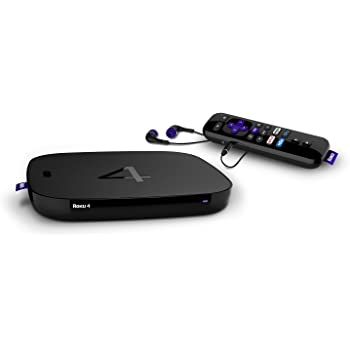 Roku 4 | HD and 4K UHD Streaming Media Player with Enhanced Remote (Voice Search, Lost Remote Finder, and Headphone), Quad-Core Processor, Dual-Band Wi-Fi, Ethernet, and USB Port