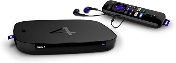 Best Roku 4 | HD and 4K UHD Streaming Media Player with Enhanced Remote (Voice Search, Lost Remote Finder, and Headphone), Quad-Core Processor, Dual-Band Wi-Fi, Ethernet, and USB Port Review