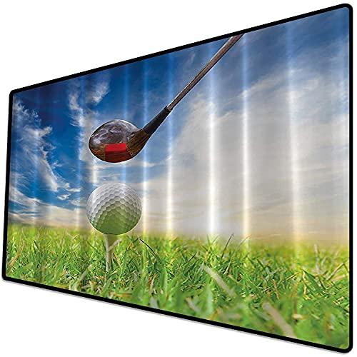 Alfombrilla de ratón (600x300x3 mm) Golf Masculine Sports Clubs Hombre Cueva Arte de la Pared Deporte Día del Padre Regalos de jubila Superficie Suave y cómoda de la Alfombrilla de ratón para