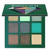 ARTIFUN Paleta de sombras de ojos, Matte Smoky Shimmer Glitter Eyeshadow 9 Colores Maquillaje Impermeable Paleta Cosméticos