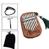 Yuzhonghua Pulgar de Piano Clave Musical Africano, y Mini Dedo compacta Marimbas, fácil for los Principiantes a Aprender a Tocar Instrumentos Musicales Que cuelgan diseño del Agujero