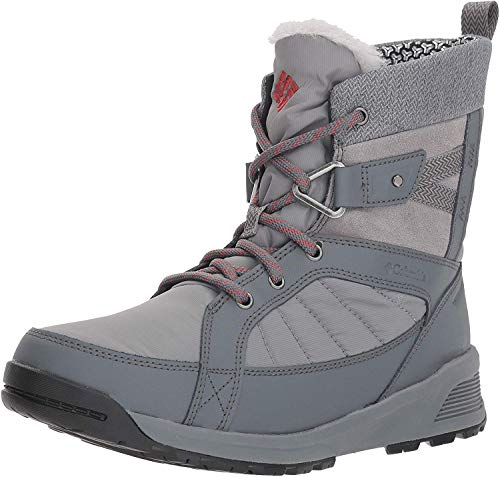 COLUMBIA Damen Wasserdichte Wanderstiefel, MEADOWS SHORTY OMNI-HEAT 3D, Grau (Ti Grey Steel, Marsala Red), 37 1/2