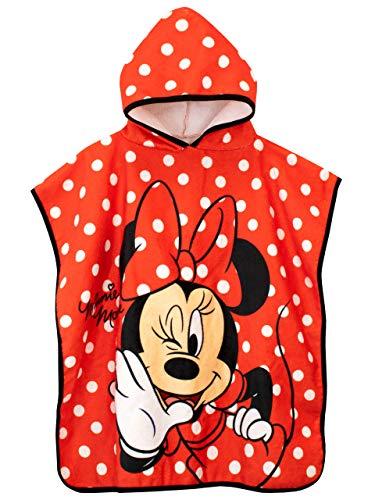 Disney Mädchen Kapuzenhandtuch Poncho Minnie Mouse Einheitsgröße