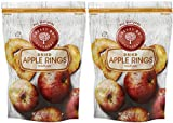 Cherry Bay Orchards - Dried Organic Apple Rings - Pack of Two 6oz Bags (12oz Total) - Natural, Gluten Free and GMO free with no Artificial Color or Additives - Healthy Dried Apple Slices