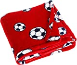 Playshoes Fleece-Decke Fußball Manta de lana, Rojo (Rot 8), única para Bebés